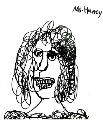 A Student Drawing of Miss Haney