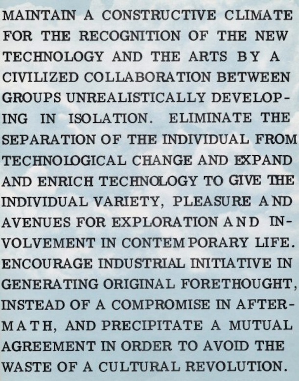 EAT Statement of Purpose, 1967
