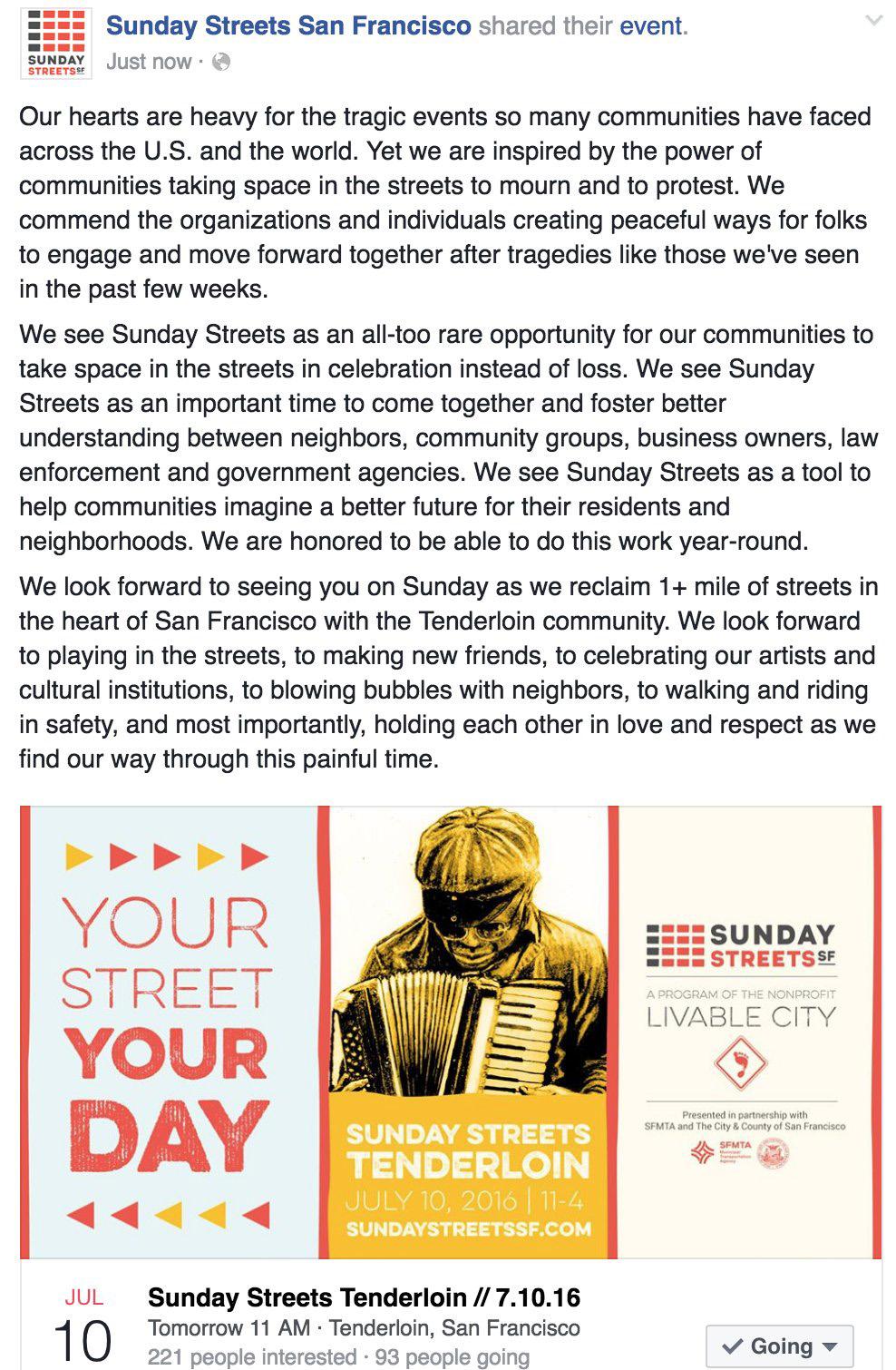 Sunday Streets 7.10.16