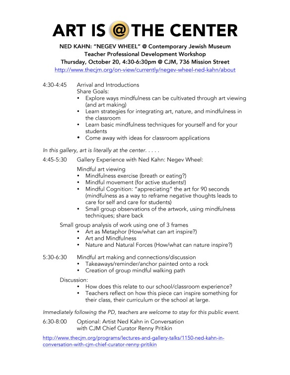 CJM PD Agenda for Negev Wheel
